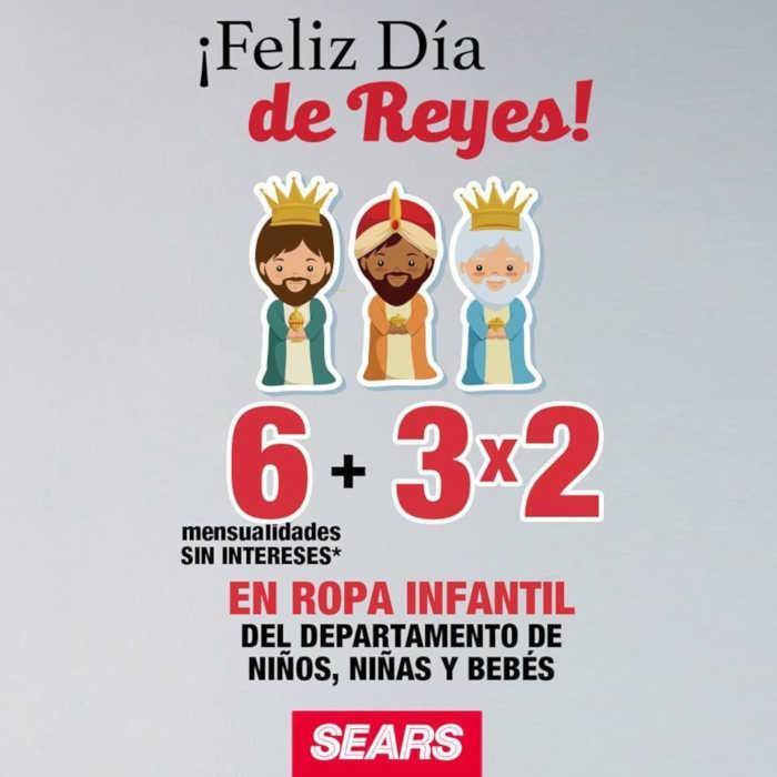 Sears: 3×2 en ropa infantil para niños y bebés Reyes Magos 2019
