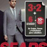 Sears: 3x2 en trajes, sacos y pantalones para caballero Enero 2019