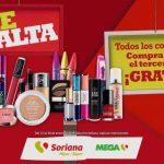 Ofertas Soriana y MEGA Soriana: 3x2 en cosméticos del 25 al 28 de enero 2019