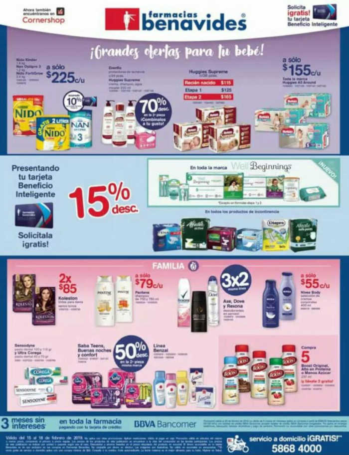 Farmacias Benavides: Ofertas fin de semana del 15 al 18 de febrero 2019