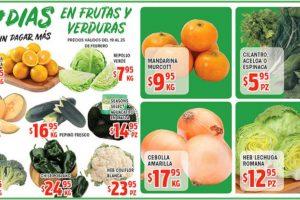 Ofertas Frutas y Verduras HEB del 19 al 25 de febrero de 2019