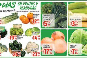 Frutas y Verduras HEB del 5 al 11 de febrero de 2019