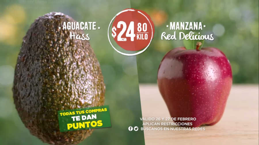 Frutas y Verduras Soriana 26 y 27 de febrero 2019