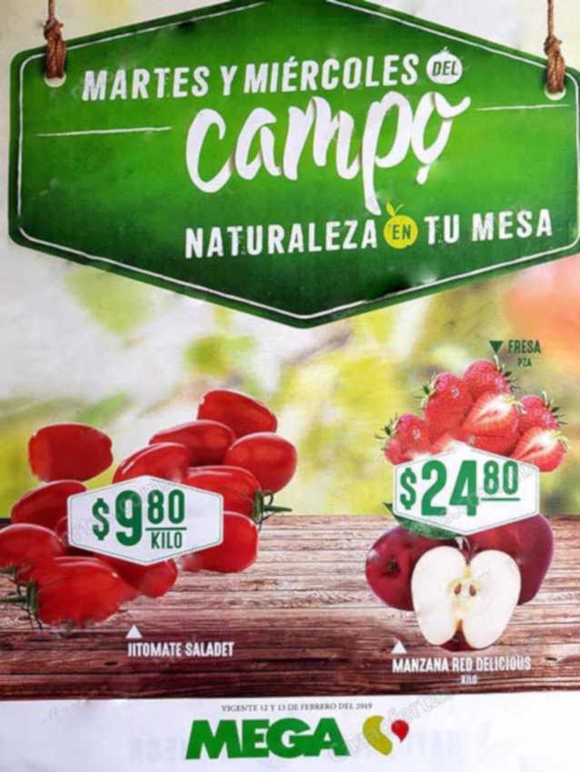 Mega Soriana: Frutas y Verduras 12 y 13 de febrero 2019