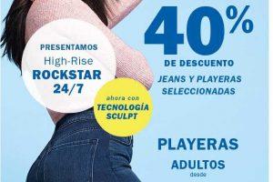 Promoción Old Navy: 40% de descuento en jeans y playeras al 5 de marzo de 2019
