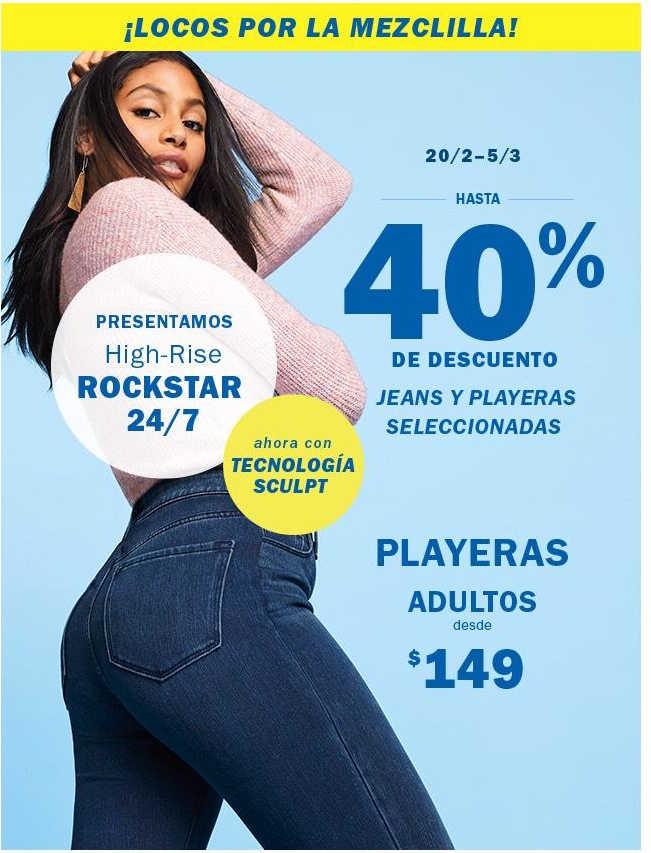 Old Navy: 40% de descuento en jeans y playeras al 5 de marzo de 2019