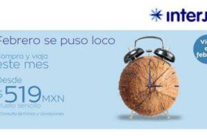 Ofertas Interjet Febrero Loco: Vuelos nacionales desde $519