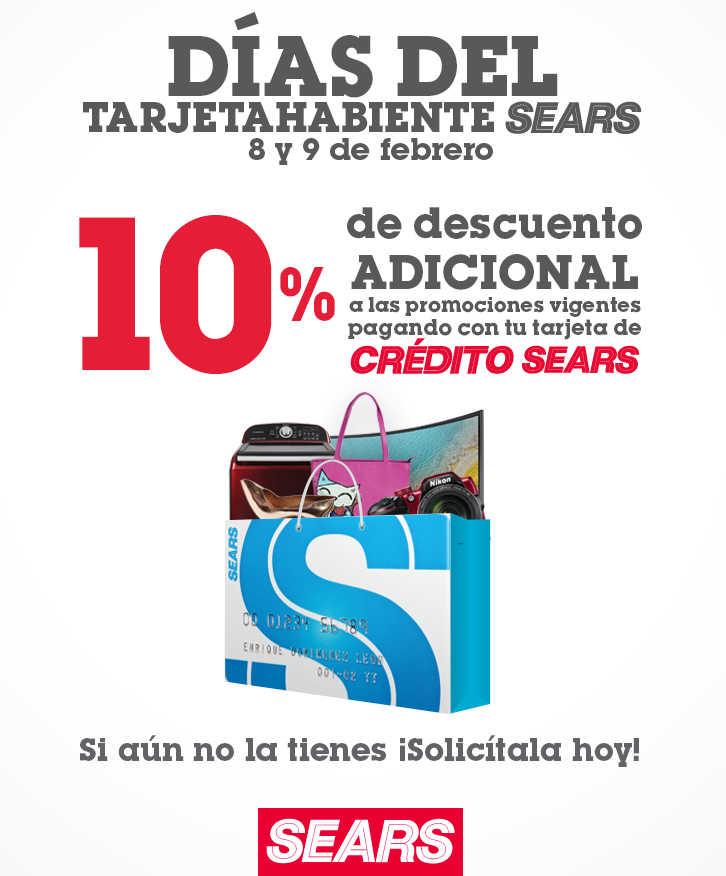 Promociones Sears Días del Tarjetahabiente 8 y 9 de febrero de 2019