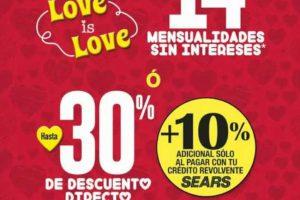 Gran Venta Sears San Valentín Love is Love del 13 al 18 de Febrero 2019