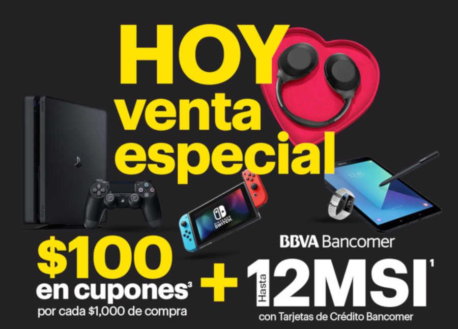 Venta Especial Best Buy BBVA Bancomer 13 y 14 de febrero de 2019