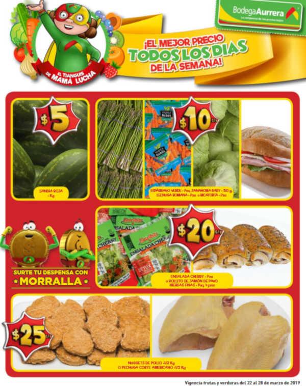 Bodega Aurrerá: Frutas y Verduras del 23 al 28 de Marzo de 2019