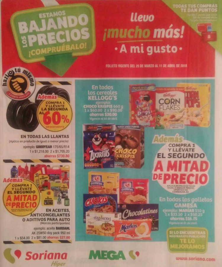 Folleto Soriana Híper y Mega Soriana del 29 de Marzo al 11 de Abril 2019