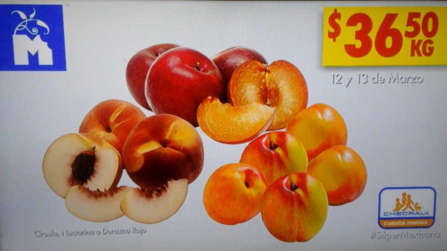 Frutas y Verduras Chedraui 12 y 13 de marzo 2019
