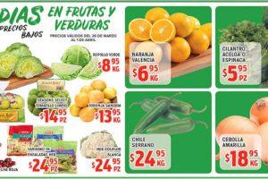 Ofertas Frutas y Verduras HEB del 26 de Marzo al 1 de Abril de 2019