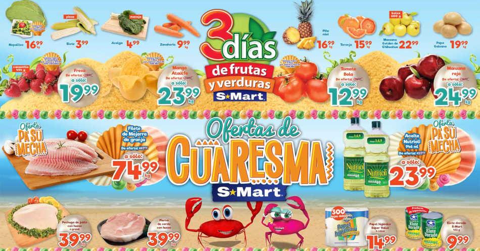 Frutas y Verduras S-Mart del 12 al 14 de marzo de 2019