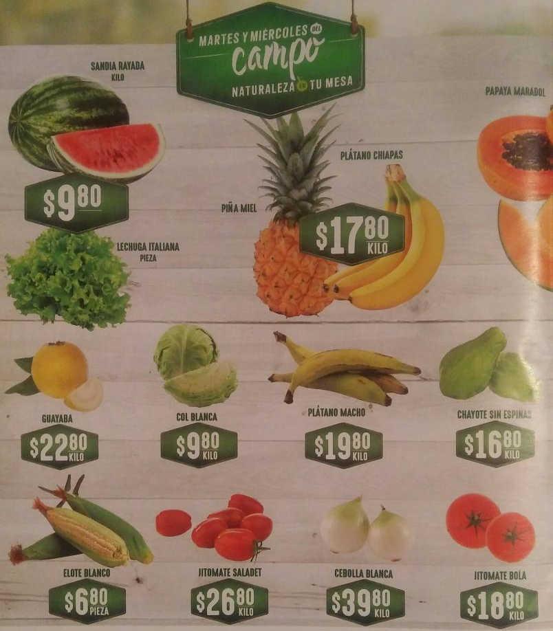 Ofertas Soriana Súper Frutas y Verduras del Campo 12 y 13 de marzo 2019