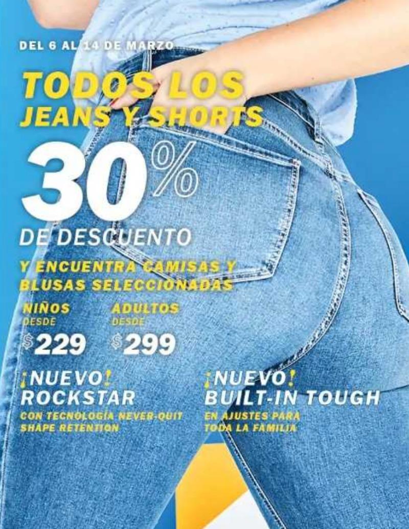 Old Navy: 30% de descuento en todos los jeans y Shorts