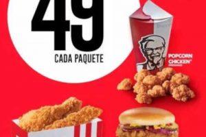 Ofertas KFC Menú Smart Paquetes con precios desde $49