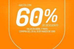 Ofertas VivaAerobus: Hasta 60% de descuento en vuelos Abril y Mayo 2019
