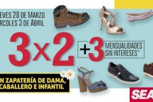 Sears: 3x2 en calzado para caballeros, damas y niños
