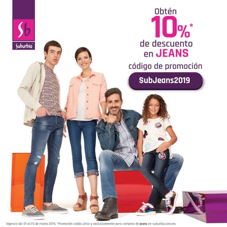 Suburbia: 10% de descuento en jeans comprado por Internet