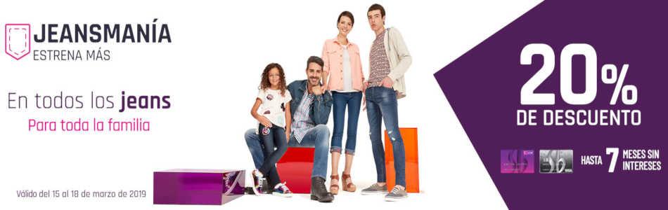 Suburbia: 20% de descuento en jeans para toda la familia del 15 al 18 de marzo 2019