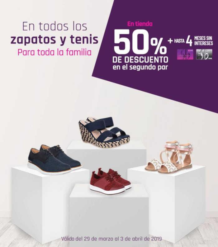 5b1ce54b3e707 Suburbia  50% de descuento en segundo par de zapatos y tenis para toda la  familia