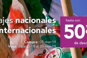 Volaris 50% de descuento en viajes nacionales e internacionales al 7 de marzo