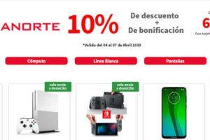 Elektra - 10% de Bonificación + 10% de descuento pagando con tarjetas Banorte