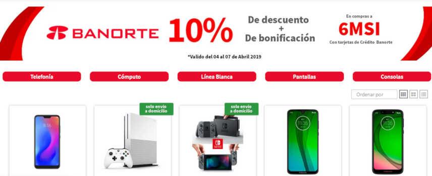 Elektra – 10% de Bonificación + 10% de descuento pagando con tarjetas Banorte