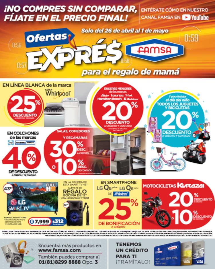 Famsa: Ofertas Express Hasta 40% de descuento al 1 de mayo 2019