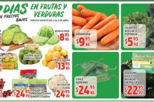Frutas y Verduras HEB del 2 al 8 de Abril de 2019