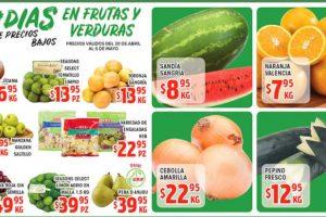 Frutas y Verduras HEB del 30 de abril al 6 de mayo de 2019