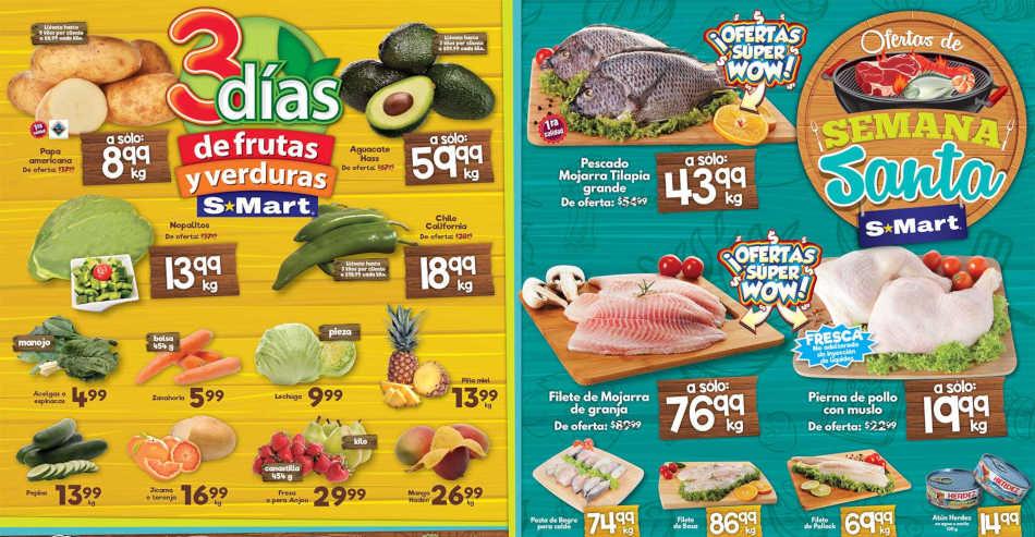 Frutas y Verduras S-Mart del 16 al 19 de Abril 2019