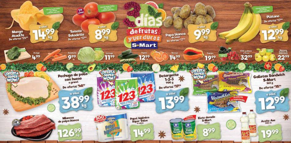 Frutas y Verduras S-Mart del 24 y 25 de abril 2019