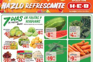 Ofertas HEB Frutas y Verduras del 9 al 15 de Abril 2019