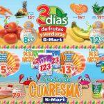Ofertas S-Mart 3 Frutas y Verduras del 9 al 11 de abril de 2019