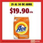 Promoción Oxxo: Detergente en Polvo Ace 900 gr. a $19.90 del 25 al 30 de abril 2019