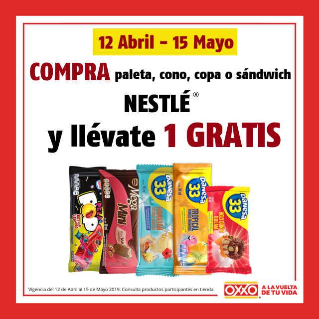 Oxxo: Paleta premium GRATIS comprando paleta, cono, copa o sándwich Nestlé
