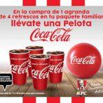 Promoción Día del Niño KFC y Coca-Cola: pelota Gratis al agrandar un paquete familiar