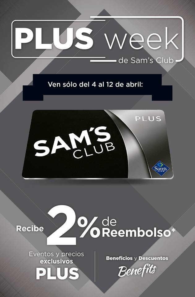 Sams Club – Folleto de ofertas Plus Week del 4 al 12 de abril 2019
