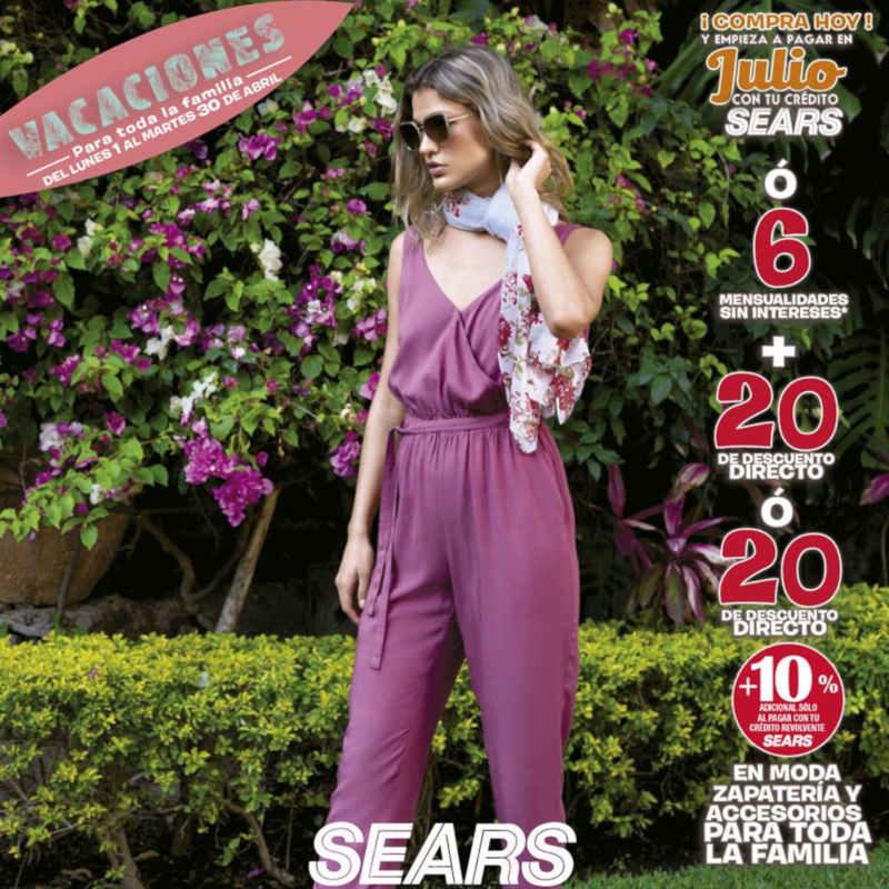 Promociones Sears Vacaciones para Toda la Familia del 01 al 30 Abril 2019