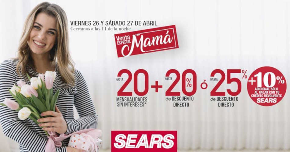 Sears: Venta Nocturna Especial Día de las Madres 2019