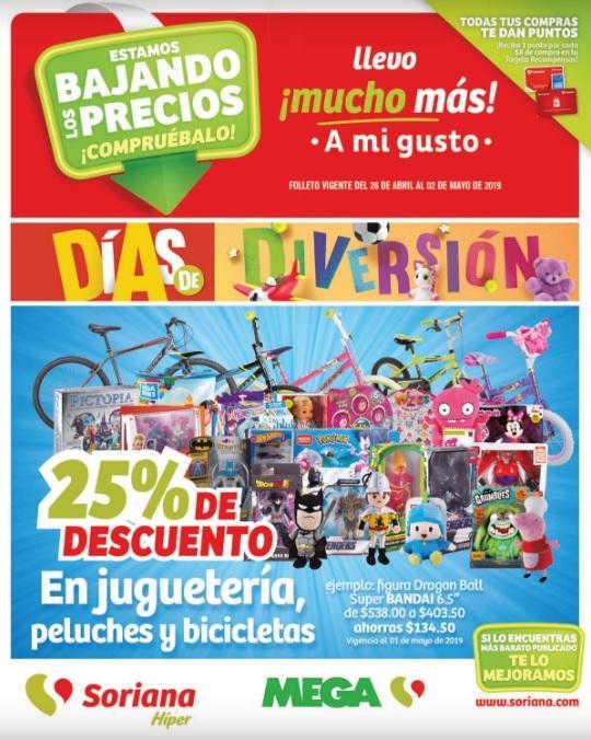 Soriana Híper y Mega: Folleto de ofertas Día de las Madres 26 de Abril al 10 de Mayo 2019