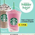 Promoción Happy Hour Starbucks 2×1 en Frappuccino del 24 de Abril al 8 de Mayo
