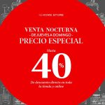 Gran Venta Nocturna The Home Store del jueves 25 al domingo 28 de abril 2019