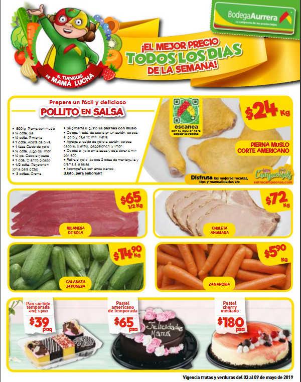 Bodega Aurrerá: Frutas y Verduras del 3 al 9 de Mayo de 2019