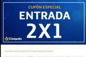 Cinépolis Cupón 2x1 en taquilla si eres cliente Movistar