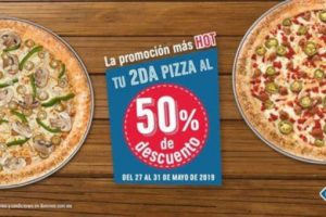 Domino's Pizza Hot Sale 2019: Pizzas al 2×1½ del 27 al 31 de Mayo 2019