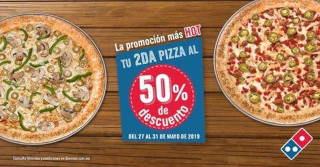 Domino's Pizza Hot Sale 2019:  Pizzas al 2×1½ del 27 al 31 de Mayo 2019